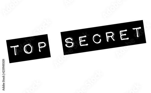 Photo top secret stamp on white