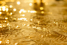 Gold Surface Water Texture