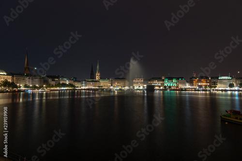 Plakat Hamburg nocą