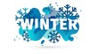 Horizontal Design winter template banner with abstract geometric shape background. Cold blue style layout for season offer or sale with snowflake and fluid graphic dynamic decoration backdrop. Vector