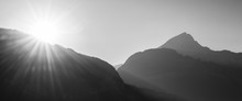 Sun In The Mountains. Black An...