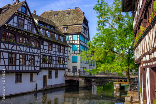 Foto  Historic quarter called little France (La Petite France) in Strasbourg, France