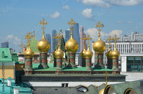 Fotografia  Domes of the Verkhospassky Cathedral of the Moscow Kremlin, Russia