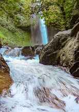 La Fortuna Waterfall Near The Arenal National Park In Costa Rica