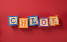 Name Chloe Made With Wooden Blocks