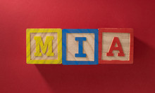 Name Mia Made With Wooden Blocks