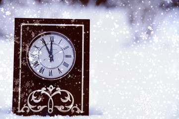 vintage clock on a background