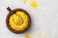Nutritional Yeast In A Wooden ...