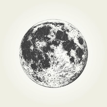 Realistic Full Moon. Detailed ...