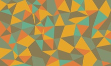 Abstract Low Poly Background, Geometric Polygonal Shapes, Retro Color