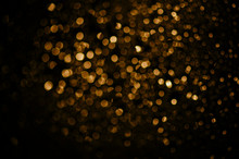 Golden Bokeh Background.