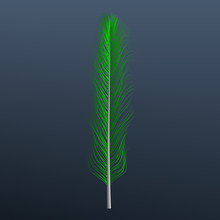 Green Feather Icon. Realistic Illustration Of Green Feather Vector Icon For Web Design