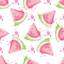 Slices Of Watermelon Seamless ...