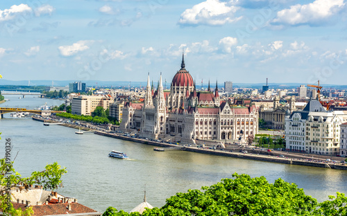 Hungarian parliament building in Budapest Wallpaper Mural