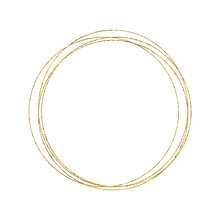 Gold Geometrical Round Oval Fr...