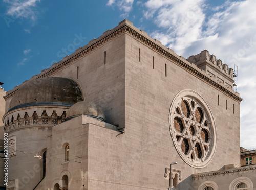 Fotografia Beautiful view of the synagogue of Trieste, Friuli Venezia Giulia, Italy