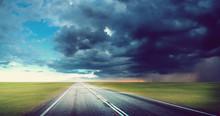 Hurricane Tornado Road Backgro...