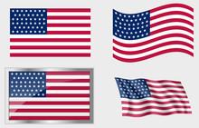 Flag Of The US 46 Stars