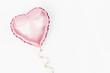 Leinwanddruck Bild - Single Balloon of heart shaped foil on white background. Love concept. Holiday celebration. Valentine's Day or wedding/bachelorette party decoration. Metallic balloon