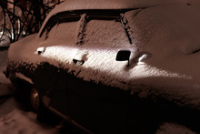 Snow Covered Old Classic Car I...