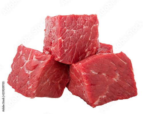 meat, beef, isolated on white background, clipping path, full depth of field Wall mural