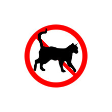 Prohibition Sign No Cats
