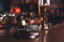 Judges Gavel And Car Key / Traffic Law