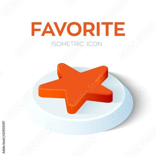 Fotografie, Obraz  Favorite Isometric Icon