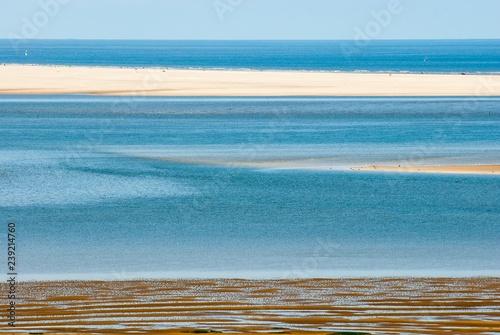 Fotografie, Obraz  Weite an der Nordseeküste, Sandbank mit Touristen, Menschen, Watt, Küste, Schles
