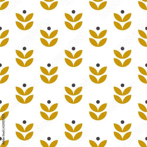 Simple seamless geometric pattern in scandinavian style Wallpaper Mural