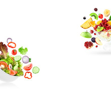 Fruit And Vegetable. Mixed Salad