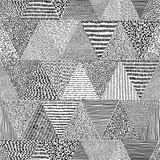 Doodle style seamless pattern. Black and white print for textiles. Triangles drawn with a freehand marker. Vector illustration. - 239224718