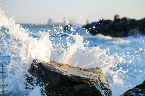 Poster Mer / Ocean Colorful sea waves splash 7