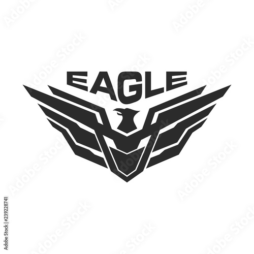 Valokuvatapetti Eagle military tactical urban logo design template