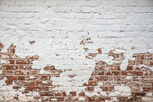 Old Brick Wall Facade Texture For Design Or Background