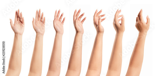 Foto  Woman hands isolated on white background
