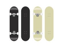 Skateboard Vector Template Ill...