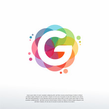 Abstract G Initial Logo Designs Concept Vector, Colorful Letter G Logo Designs