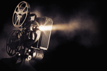 Film Projector On A Dark Backg...