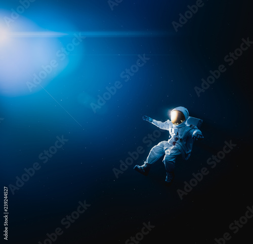 Astronaut exploring outer space