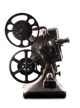 Film Projector On A White Background