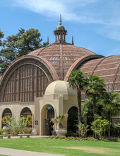Wooden Rooftop Of The Arboretum At Balboa Park In San Diego California