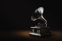 Gramophone On A Dark Background