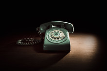 Vintage Telephone With Rotary Dial