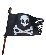 Pirate Flag On A White Backgro...