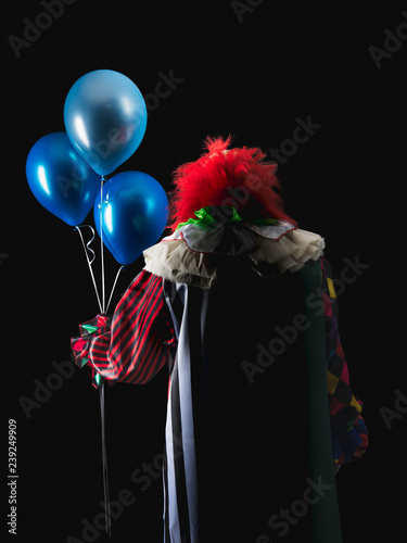 Fotografía Scary clown on a dark background