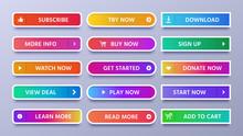Colorful Gradients Buttons. Vi...