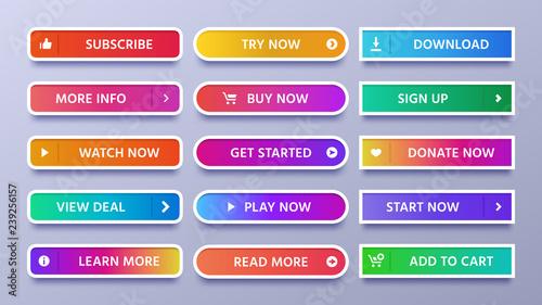 Colorful gradients buttons Fototapeta