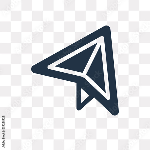 Airplane Of Paper Sheet Vector Icon Isolated On Transparent