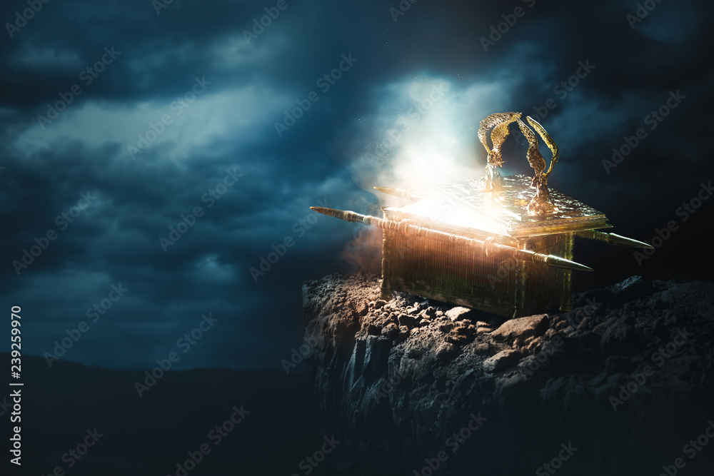Fototapety, obrazy: Ark of the covenant at the top of a mountain / 3D Rendering